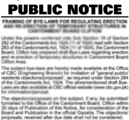 Public Notices :