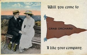 Photo courtesy of John Haworth A 1920's post card from Crab Orchard.