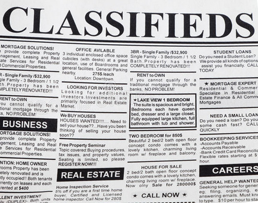 Classified Ads :